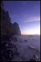 Tall seacliffs, Pola island,  Tutuila. National Park of American Samoa (color)