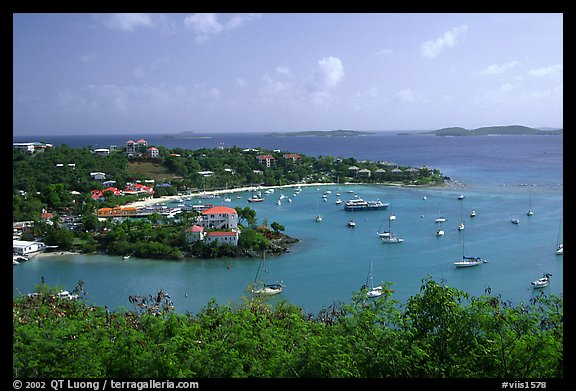 Cruz Bay. Saint John, US Virgin Islands (color)