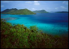 Tropical island environment with turquoise waters. Virgin Islands National Park ( color)
