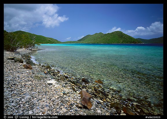 Turquoise waters in Leinster Bay. Virgin Islands National Park (color)