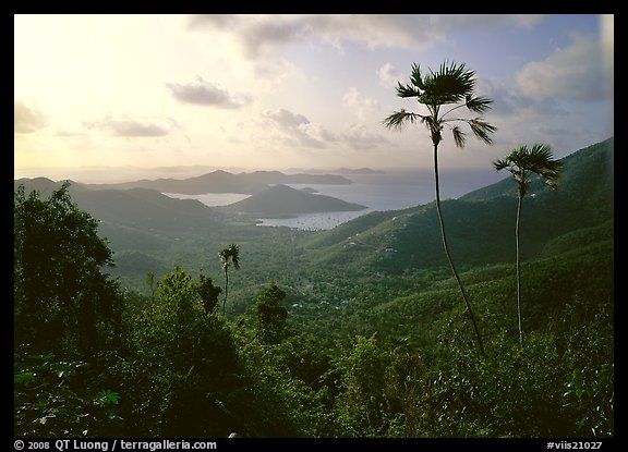 View over East end of island. Virgin Islands National Park (color)