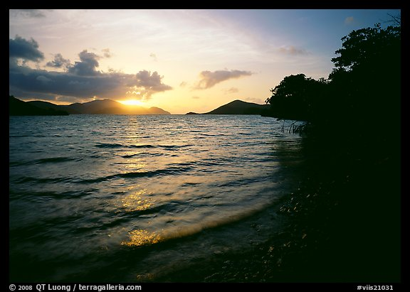 Sunrise, Leinster bay. Virgin Islands National Park (color)