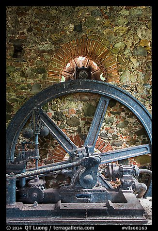 Part of steam engine, Reef Bay sugar factory. Virgin Islands National Park (color)