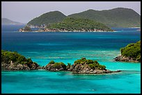 Trunk Cay and turquoise waters. Virgin Islands National Park ( color)