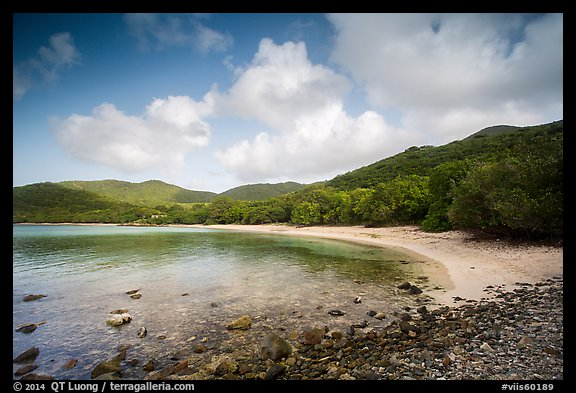 Little Lameshur beach. Virgin Islands National Park (color)