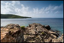 Rocky headlead, Yawzi Point. Virgin Islands National Park ( color)
