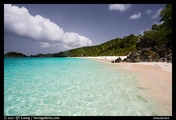 Trunk Bay Beach. Virgin Islands National Park (color)