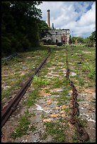Creque Marine Railway slipway, Hassel Island. Virgin Islands National Park ( color)