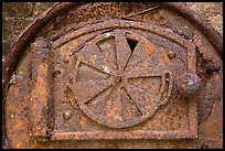 Rusted Furnace door, Hassel Island. Virgin Islands National Park ( color)