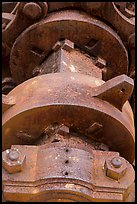 Winch detail, Creque Marine Railway, Hassel Island. Virgin Islands National Park ( color)