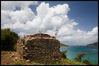 Leprosiarum building, Hassel Island. Virgin Islands National Park ( color)