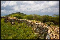 Shipleys Battery, Hassel Island. Virgin Islands National Park ( color)