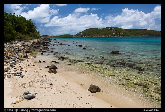 Beach, Hassel Island. Virgin Islands National Park (color)