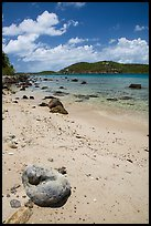 Coral rock and beach, Hassel Island. Virgin Islands National Park ( color)