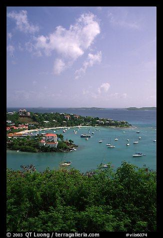 Cruz Bay harbor. Saint John, US Virgin Islands (color)