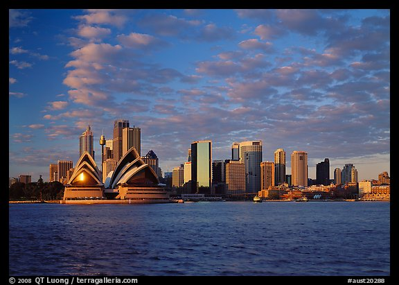 Opera house and city skyline. Sydney, New South Wales, Australia (color)