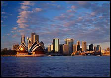 Opera house and city skyline. Sydney, New South Wales, Australia