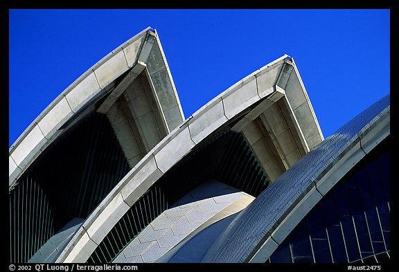Shell-like roofs of the Opera House. Sydney, New South Wales, Australia (color)