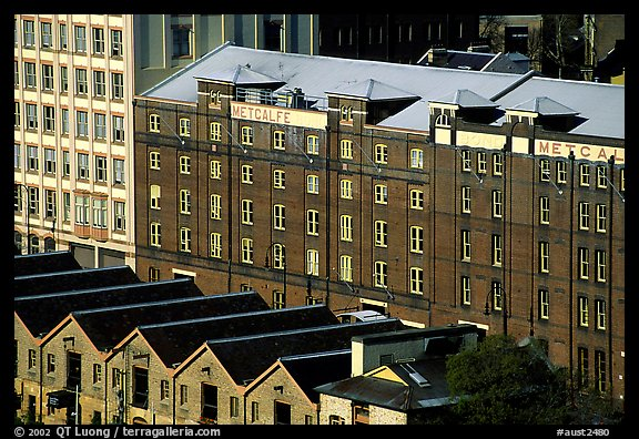 Colonial-era buildings of the Rocks. Sydney, New South Wales, Australia (color)