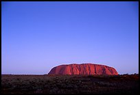 Dusk, Ayers Rock. Uluru-Kata Tjuta National Park, Northern Territories, Australia (color)