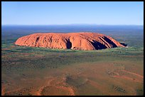 Aerial view of Ayers Rock. Uluru-Kata Tjuta National Park, Northern Territories, Australia (color)