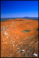 Trail markers on the top of Ayers Rock. Uluru-Kata Tjuta National Park, Northern Territories, Australia (color)