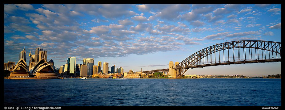 Sydney cityscape from harbor. Sydney, New South Wales, Australia (color)