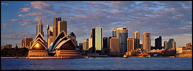 Sydney skyline view with Opera House. Sydney, New South Wales, Australia (Panoramic color)