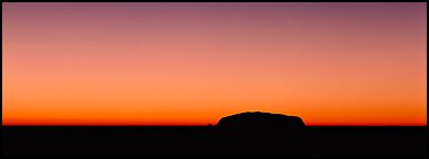 Ayers rock and dawn sky. Uluru-Kata Tjuta National Park, Northern Territories, Australia