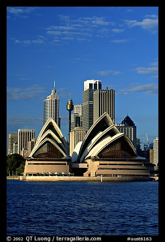 Opera House and skyline. Sydney, New South Wales, Australia (color)