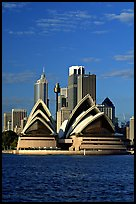 Opera House and skyline. Sydney, New South Wales, Australia ( color)