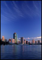 Brisbane River, sunrise. Brisbane, Queensland, Australia (color)