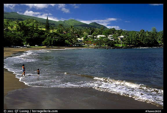 The beach of Hana. Maui, Hawaii, USA (color)