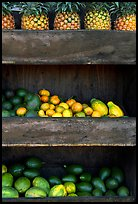 Fruit stand detail. Maui, Hawaii, USA (color)