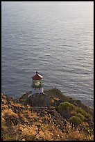 Makapuu head ligthouse, early morning. Oahu island, Hawaii, USA ( color)