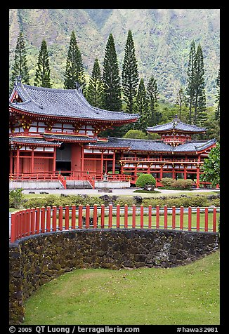 Byodo-In Temple. Oahu island, Hawaii, USA (color)