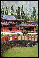 Byodo-In Temple. Oahu island, Hawaii, USA ( color)