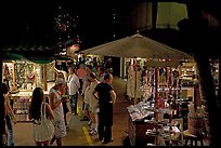 Shoppers amongst craft stands, International Marketplace. Waikiki, Honolulu, Oahu island, Hawaii, USA