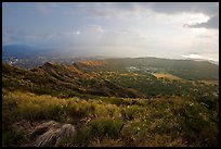 Diamond Head crater, early morning. Oahu island, Hawaii, USA ( color)