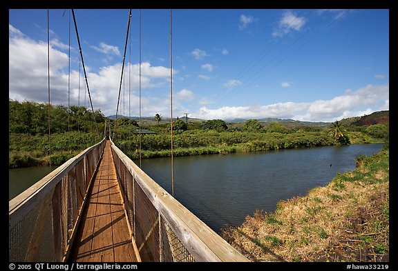 Picture Photo Swinging Bridge Hanapepe Kauai Island