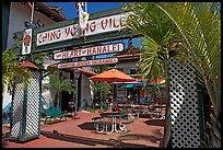Ching Young Village shopping center, Hanalei. Kauai island, Hawaii, USA ( color)