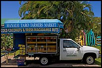 Pickup truck transformed into a fruit stand. Kauai island, Hawaii, USA ( color)