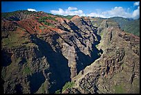 Aerial view of Waimea Canyon. Kauai island, Hawaii, USA (color)