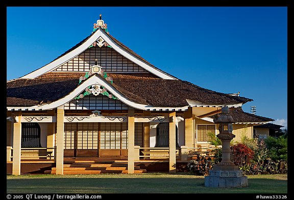 Zen temple, Hanapepe. Kauai island, Hawaii, USA (color)