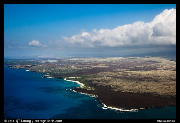 Aerial view of Kona Coast. Big Island, Hawaii, USA (color)