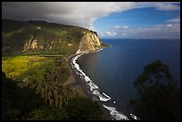 Waipio Valley and beach. Big Island, Hawaii, USA ( color)