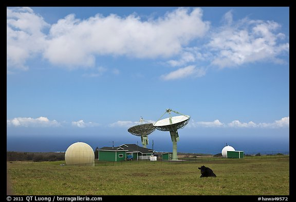 South Point satellite station. Big Island, Hawaii, USA (color)