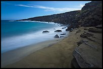 Olivine sand beach. Big Island, Hawaii, USA