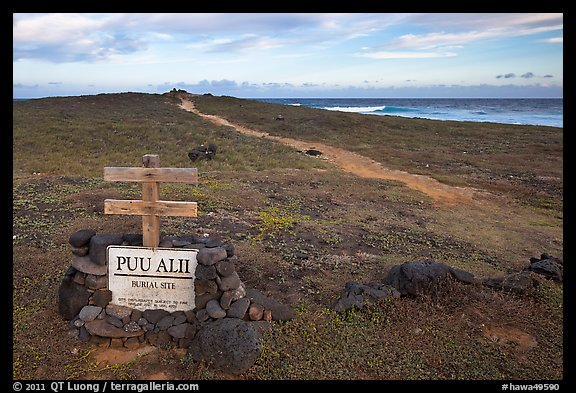 Burial site near South Point. Big Island, Hawaii, USA (color)