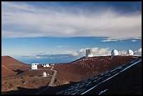 Summit observatory complex. Mauna Kea, Big Island, Hawaii, USA
